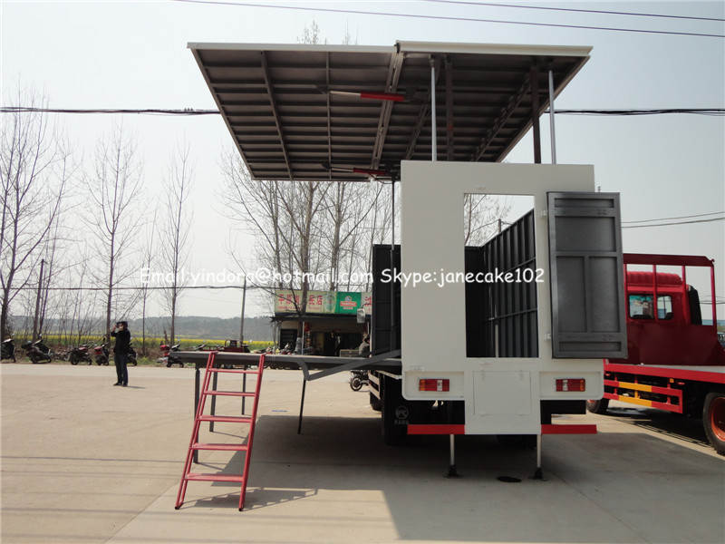 mobile stage truck for road show